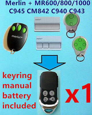 AU14.99 • Buy Merlin+ MR600 MR800 MR850 MR1000 C945 CM842 C940 C943  Garage Door Remote