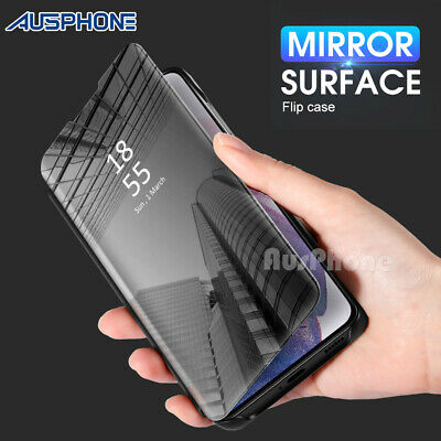AU9.95 • Buy Mirror Shockproof Flip Case Cover For Samsung Galaxy S10 Note 20 Ultra S20 S9