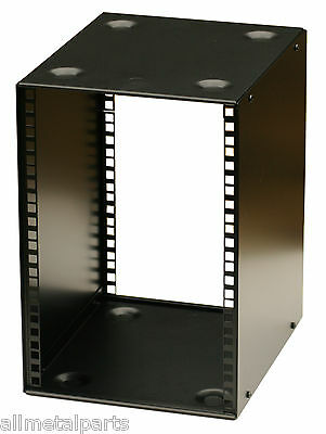 8U Rack Cabinet Case Half- Rack 9.5 Inch Width 300mm Deep In Black • 51£