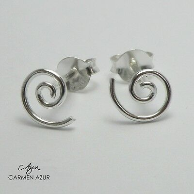 £6.99 • Buy Solid 925 Sterling Silver Stud Earrings Spiral Design New With Gift Bag
