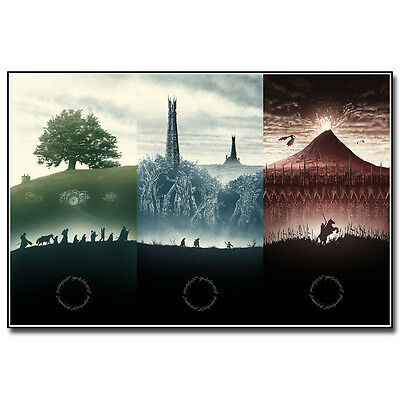 $ CDN14.68 • Buy The Lord Of The Rings 1 2 3 Movie Silk Poster 12x18 24x36inch The Hobbit
