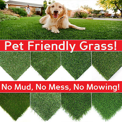 £14 • Buy CLEARANCE Artificial Grass Lawn Quality Realistic Natural Fake Garden Turf CHEAP
