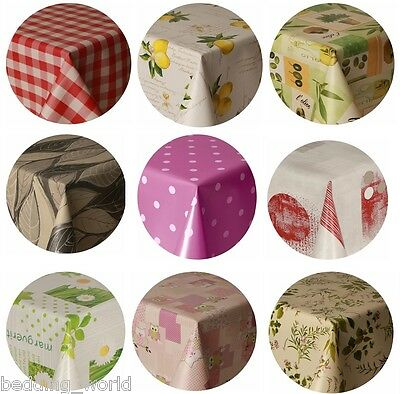 Pvc Table Cloth Round All Occasions Protectors Vinyl Plastic Printed Clear Kids • 11.99£