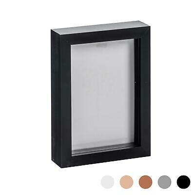 Box Picture Frame Deep 3D Photo Display 5x7 Inch Standing Hanging Black • 8.99£
