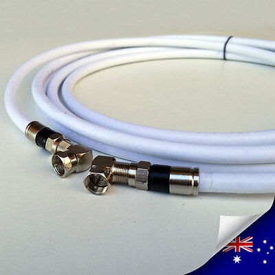 AU9.90 • Buy RG6 QUAD Shield TV Antenna Coax Right Angle Cable 75Ohm / FType To FType M/M NBN