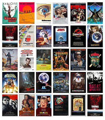 £4 • Buy Classic Vintage Movie Posters Jurassic Goonies Jaws Taxi Labyrinth ET Star Wars