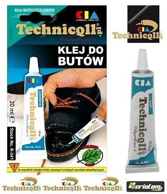 TECHNICQLL STRONG ADHESIVE GLUE FOR SHOES BOOTS LEATHER RUBBER Butapren 20ml • 2.75£