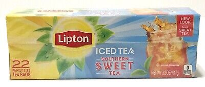 £7.24 • Buy Lipton Southern Sweet Tea Bags For Iced Tea 22 Ct Family Size