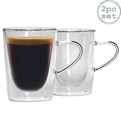 Thermal Coffee Tumblers Double Walled Insulated Espresso Fruit Tea, 285ml - X2 • 12.99£