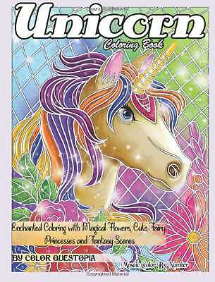 Unicorn Magical Adult Colouring Book Fairy Tale Colour By Number Mosaic Puzzle • 9.89£