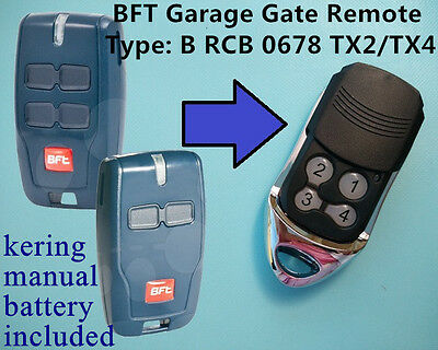AU12.84 • Buy BFT Garage Gate Remote BFT  Type: B RCB 0678 /TX2/TX4