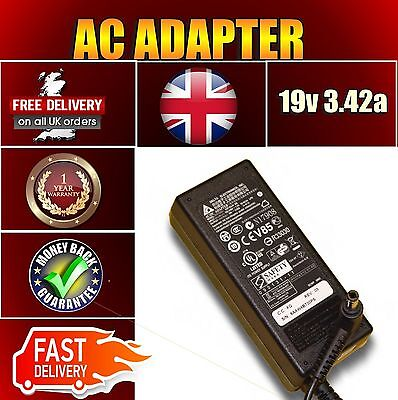 New Toshiba 1a V85 L25 Asus X5dc N17908 R33030 19v 3.42a Laptop Adapter Charger • 17.48£