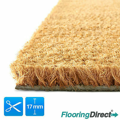 Coir Mat - Coconut Door Matting Large Heavy Duty 17mm - 1m&2m Wide -  Any Size. • 13.90£