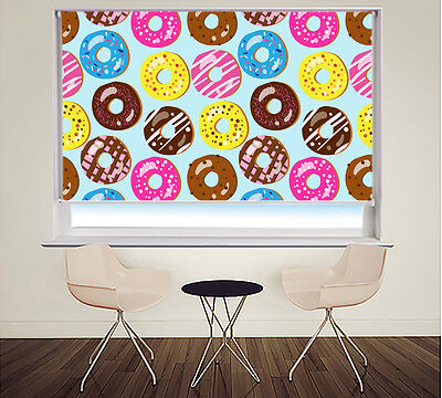 Printed Picture Roller Blind Doughnut Pattern Kitchen Blackout Window Blind • 106.11£