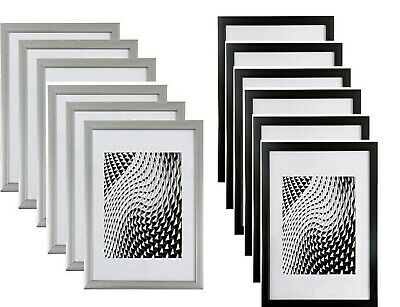 £15.09 • Buy A4 Black/Silver Picture Photo Frames/ Clip Frameless Certificate Pack 6 Frames