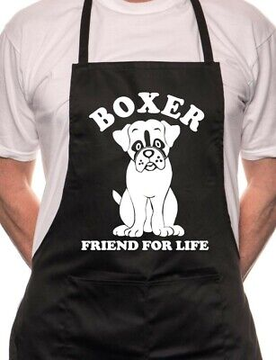 Boxer Dog Lovers Gift  BBQ Cooking Funny Novelty Apron • 9.99£