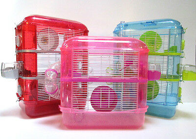 £39.99 • Buy Fantazia Large Glitter Dwarf Hamster Mouse Small Pet Cage 2 Or 3 Storey Levels
