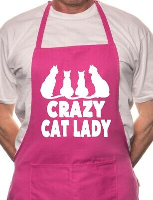 Crazy Cat Lady BBQ Cooking Funny Novelty Apron • 9.99£