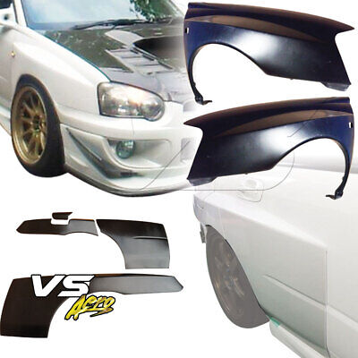 $527 • Buy VSaero FRP LSPO WRC Wide Body Fenders 7pc 4dr For Subaru Impreza WRX 04-05