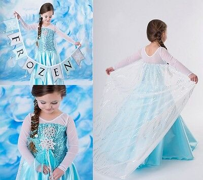 AU19.95 • Buy Girl Dress Costume Princess Queen Elsa Party Birthday Size 1-12Yrs