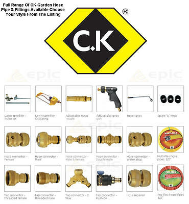 CK BRASS Watering Accessories Garden Water Hose Pipe Tube Connector Fittings  • 9.39£