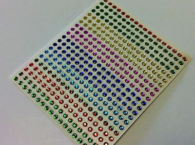 304 Acrylic Domed 2 Mm Dainty Self Adhesive Gem Stickers For Card And Wedding • 2.24£