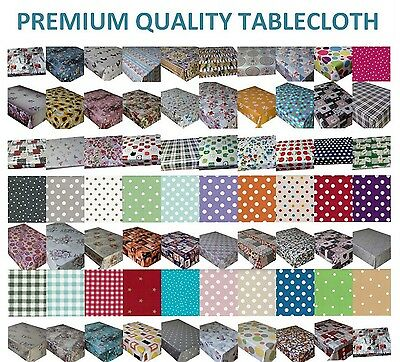 £6.89 • Buy Wipe Clean Pvc Vinyl Tablecloth Dining Kitchen Garden Table Cover Protector