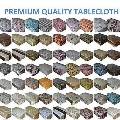 Pvc Wipe Clean Oilcloth Vinyl Tablecloth  Table Cover Protector Lots Of Design • 0.99£