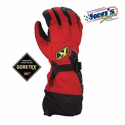 $ CDN78.90 • Buy KLIM Red FUSION GORE-TEX Winter Snowmobile Gloves (Non-Current), 3087-000-100