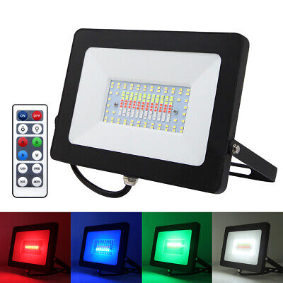 RGB Colour Changing LED Floodlight Outdoor Garden Security Spotlight Waterproof • 13.99£