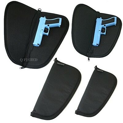 £8.95 • Buy Anglo Arms Padded Soft Pistol / Gun Case With Zip , Black, 12  Or 15  Hunting