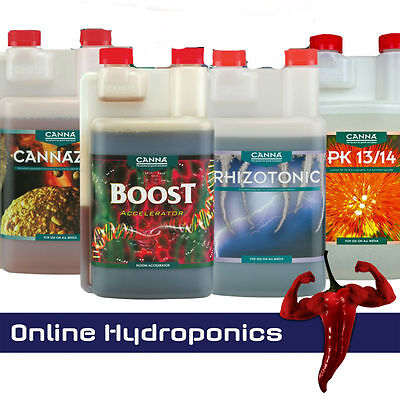 Canna Additives 250ml,1l,5l Rhizotonic,Boost,Cannazym,Pk13/14 • 18.97£