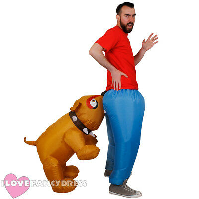 $34.92 • Buy Inflatable Dog Bite Costume Adult Novelty Fancy Dress Postman Stag Party