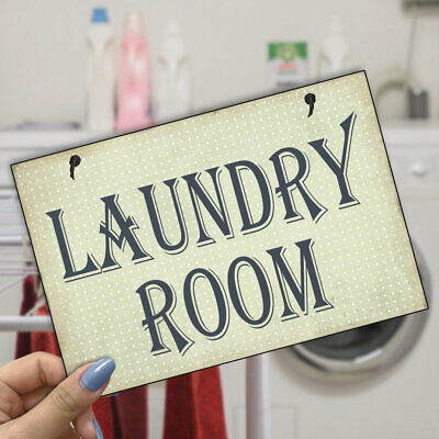 Laundry Room Sign Handmade Gift Wooden Plaque 179 • 6.99£