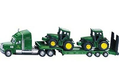 AU35.85 • Buy SIKU Low Loader With John Deere Tractors 1:87 Scale NEW Toy Trailer Tractor 1837