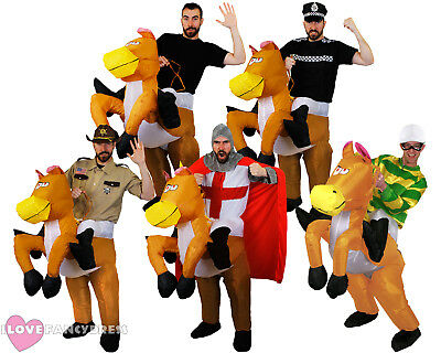 Inflatable Horse Costume Riding Ride On Suit Stag Fancy Dress Funny Novelty • 34.99£