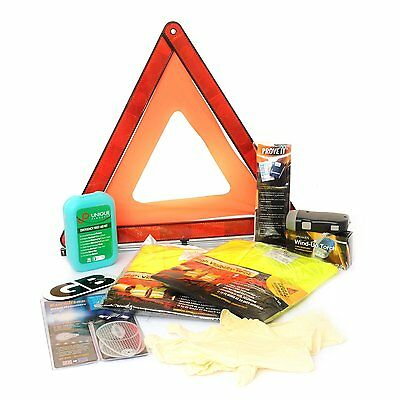 European Car Safety & Travel Kit For Roadside Emergencies In Europe (+ Torch) • 28.49£