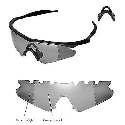 8b8d26d368 Polarized Transition Vented Replacement+Black Nosepads For Oakley M Frame  Sweep • 34.99