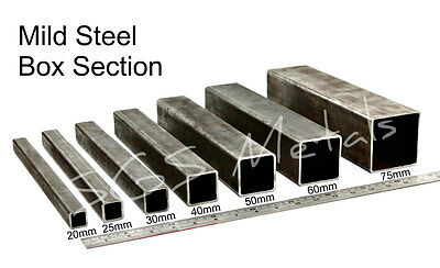 £5.55 • Buy Mild Steel BOX SECTION Excellent Range Of Sizes & Lengths Available Square Pipe