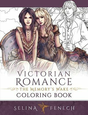£11.99 • Buy Victorian Romance Adult Colouring Book Fantasy Mystical Enchanted Magical Fairy
