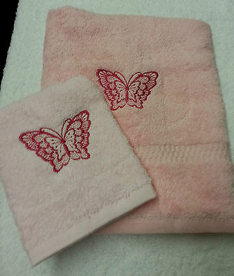 £14 • Buy Personalised Butterfly Towel Set Christmas Gift Pres Hand Towel And Face Cloth