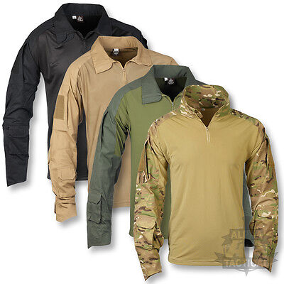 British Army Style Armoured Elbow Ubacs Shirt Mtp Multicam Olive Black Sand New • 29.95£