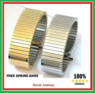 £8.95 • Buy THE BEST 20mm- 25mm GOLD/STAINLESS STEEL Expanding Expander WATCH Bracelet Strap