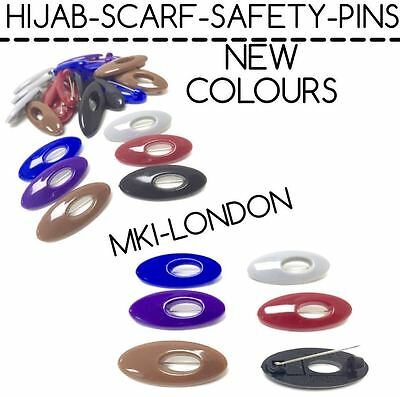 Hijab Scarf Hat Abaya  Safety Pins Snag Free  New Colours  • 2.45£