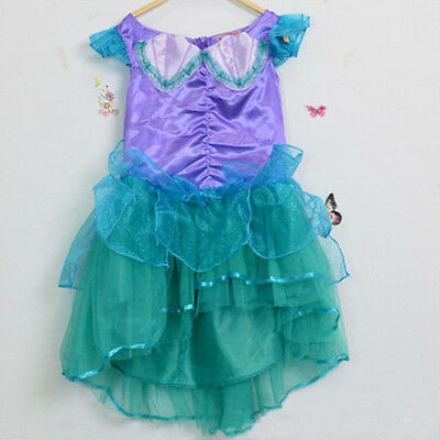AU15.95 • Buy Girl Disney The Little Mermaid Ariel Costume Dress For Party Size 2-7 Years