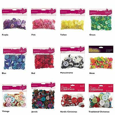 £5.76 • Buy Docrafts Papermania Craft Buttons Assorted Colours 250g Sewing Card Making