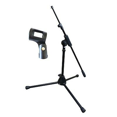 AU35 • Buy Artist MS010 Small Black Mic Stand With Short Telescopic Boom + Clip - New