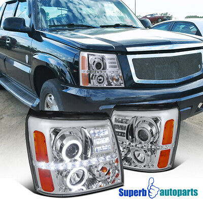 $214.98 • Buy For 2002-2006 Cadillac Escalade Dual Halo Projector Headlights LED Strip Lamps