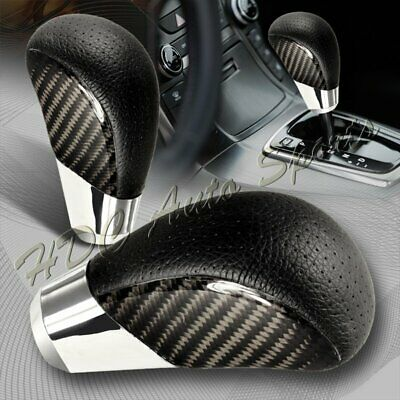 $18.99 • Buy VIP Real Carbon Fiber PVC Leather Manual MT Gear Shift Shifter Knob Universal