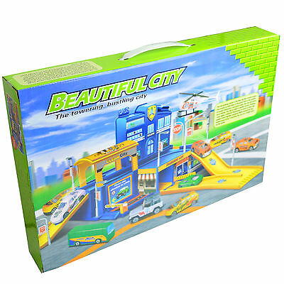 2 Storey City Car Park Auto Parking Garage Childrens Cars Play Set Toy Xmas Gift • 9.99£